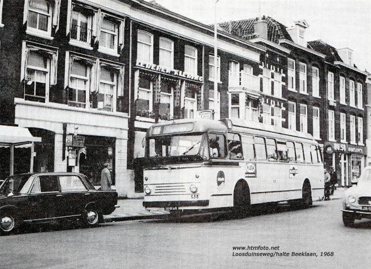 AEC Regal 538 van lijn 19 Loosduinseweg / halte Beeklaan, 1968