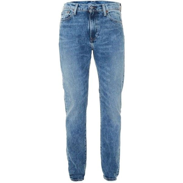 TOPMAN LEVI'S 510 Skinny Faded Blue Jeans ($110) ❤ liked on Polyvore featuring men's fashion, men's clothing, men's jeans, blue, mens super skinny stretch jeans, mens skinny jeans, mens blue jeans, mens super skinny jeans and mens button fly jeans