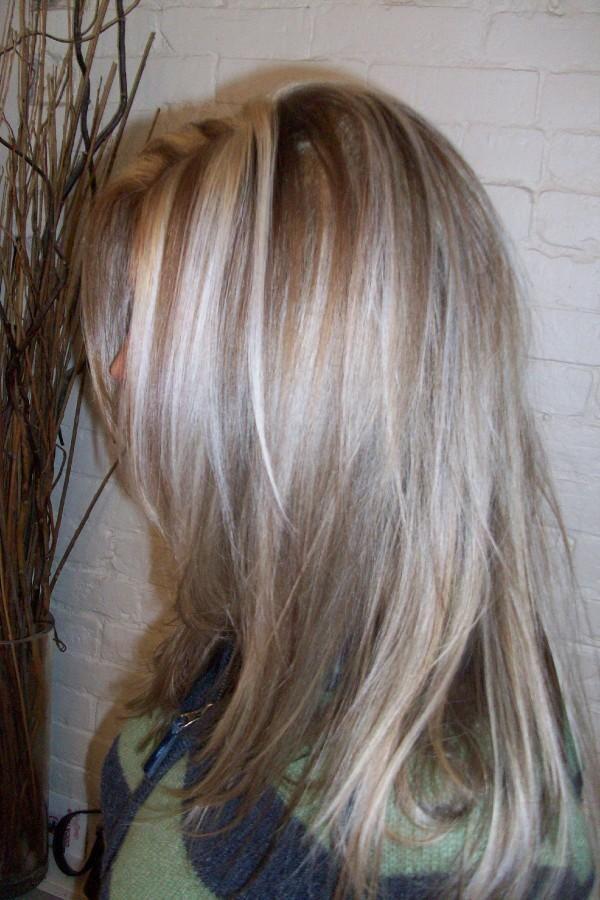 gray hair lowlights