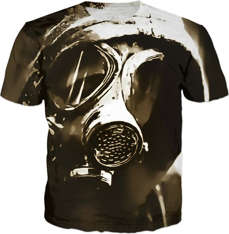 Lone wanderer post-apocalyptic tee shirt design, brown, sepia colors, scavenger in gasmask - for more art and design be sure to visit www.casemiroarts.com, item printed by RageOn at www.rageon.com/a/users/casemiroarts - also available at www.casemiroarts.com This product is hand made and made on-demand. Expect delivery to US in 11-20 business days (international 14-30 business days). (time frames are aproximate) #shirts #clothing #style #unique #tees #fashion #apparel