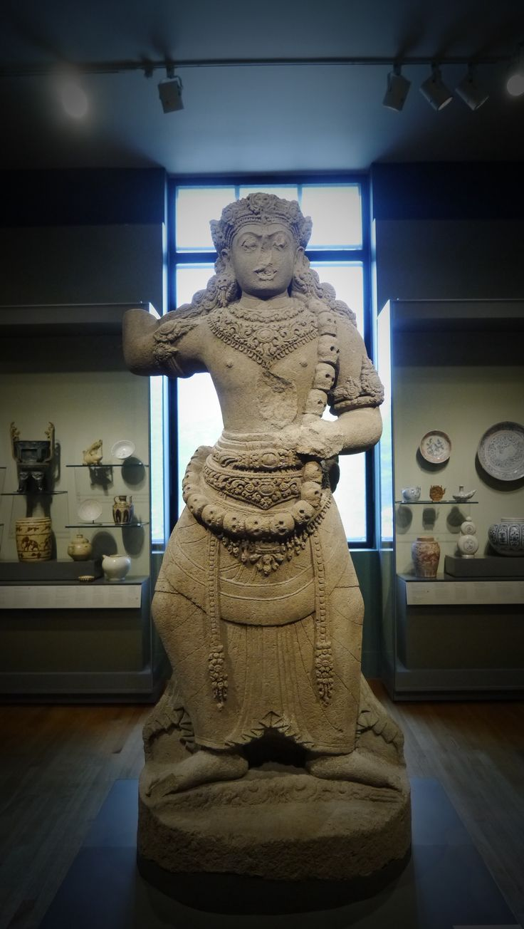 "12 century giant ""Duarapala"" dancing Majapahit Era in Boston museum look at the detail of the carving..."