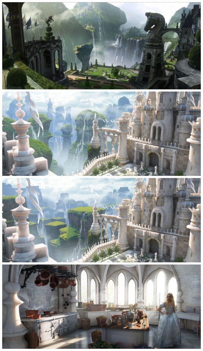 《爱丽丝梦游仙境》场景设定 #电影#