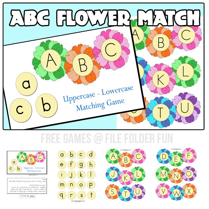 FREE Flower Themed ABC Matching Game
