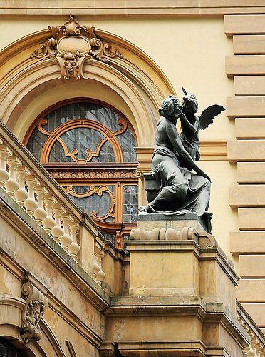 A detail of Theatro Municipal, São Paulo's centennial Opera House. São Paulo, Brazil