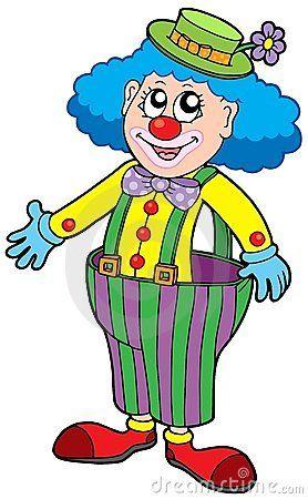 Funny clown in big pants by Klara Viskova, via Dreamstime