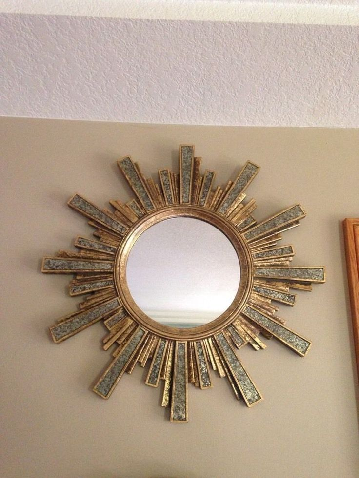 Large Round Sunburst Starburst Wall Mirror Home Decor