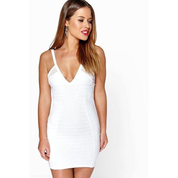 Cream bodycon maxi dress