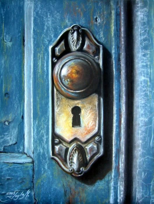 Great The Door Knob Painting   The Door Knob Fine Art Print