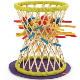 Pallina Bamboo Sticks Strategy Game - Educational Toys Planet. Great gift for 3 years old child. The players of the Hape Pallina bamboo sticks and balls smart game attempt to pull the bamboo color-coded rods out of the basket without dropping the balls. Develops Skills - problem solving, strategy, spatial reasoning, manipulative skills, social skills. #toys #learning #educational #gifts #child https://www.educationaltoysplanet.com/pallina-bamboo-sticks-strategy-game.html