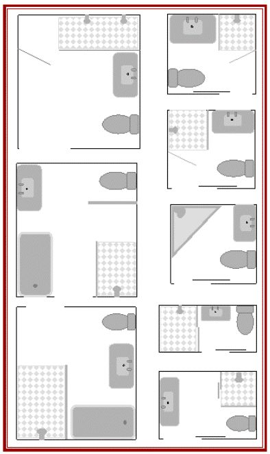 Here Are 8 Small Bathroom Plans To Maximize Your Small Bathroom Layouts |  House Decor (just Ideas) | Pinterest | Small Bathroom Plans, Small Bathroom  Layout ...