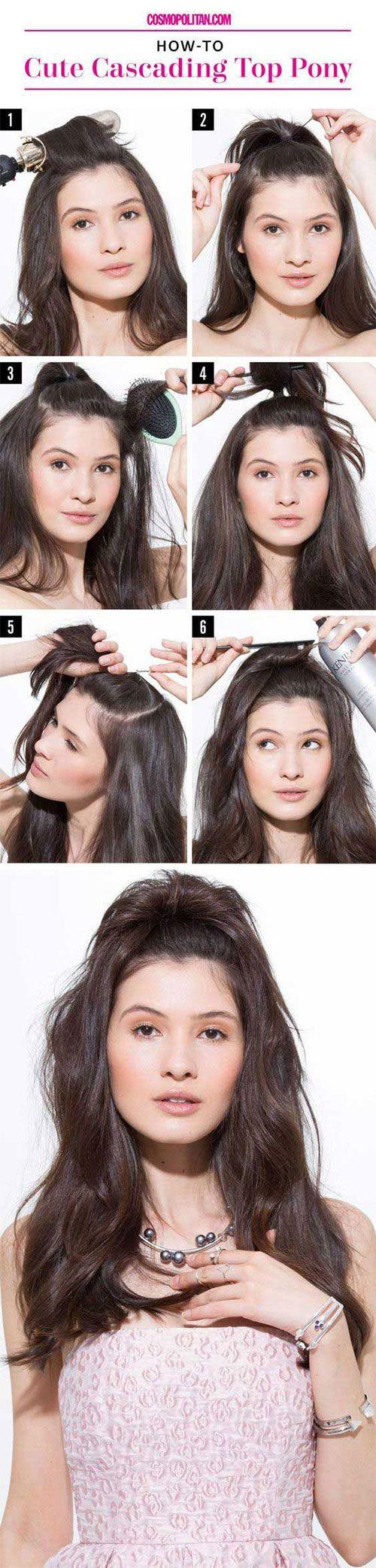 half up half down hair tutorials