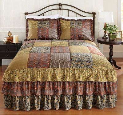 Deer Path Tiered Ruffle Bedspread