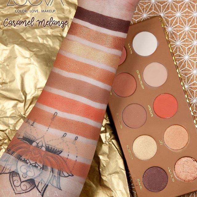 Zoeva new Caramel Melange palette.