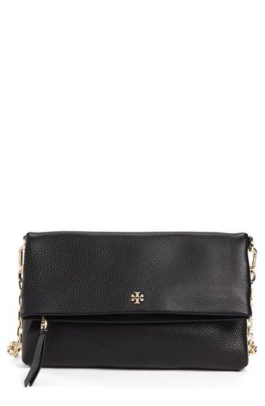 Free shipping and returns on Tory Burch Leather Foldover Crossbody Bag at Nordstrom.com. Richly pebbled leather is shaped into a fold-over crossbody bag finished with a tiny, polished logo medallion and an optional chain strap.