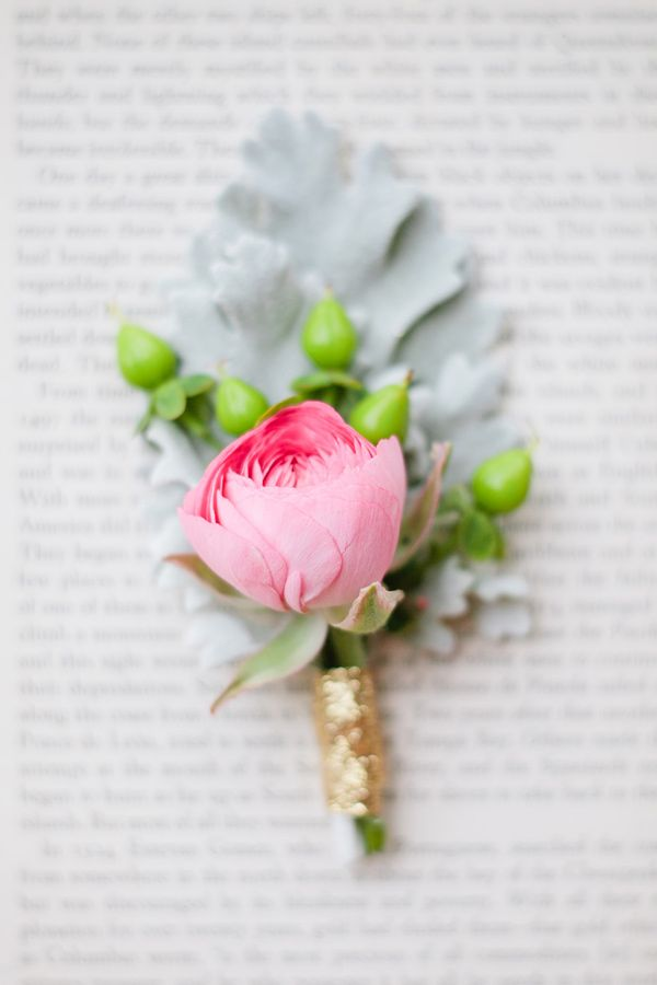 pink ranunculus boutonniere // photo by Morgan Trinker