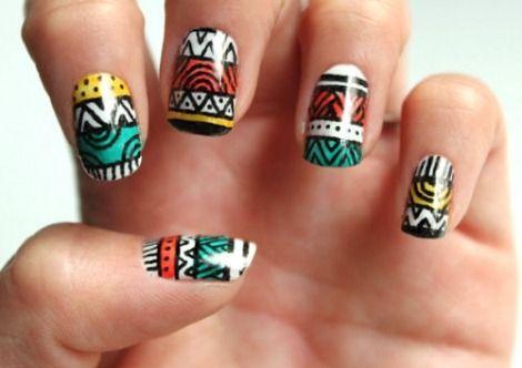 uñas-diseño-tribal