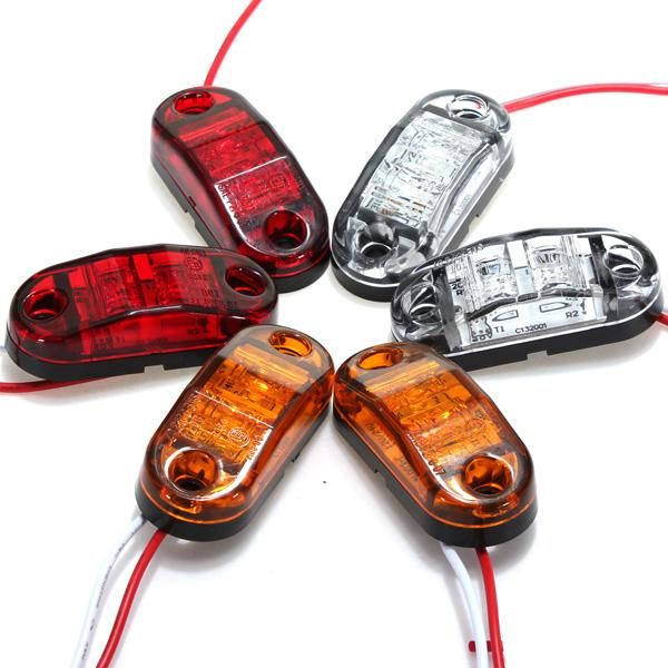 1 Pcs White /Red /Amber Side Marker LED Light For Cars Trucks Trailers Clearance Lamp 12v/24v - $8.99