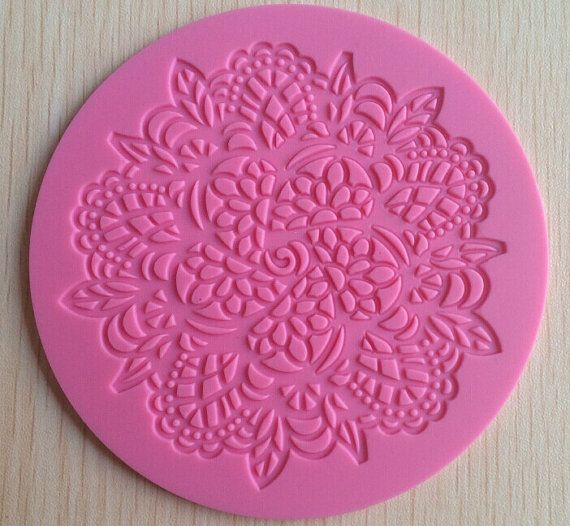 lace mold, cake lace mold, sugar lace mold, sugar dress mold, edible lace mold LACE 015