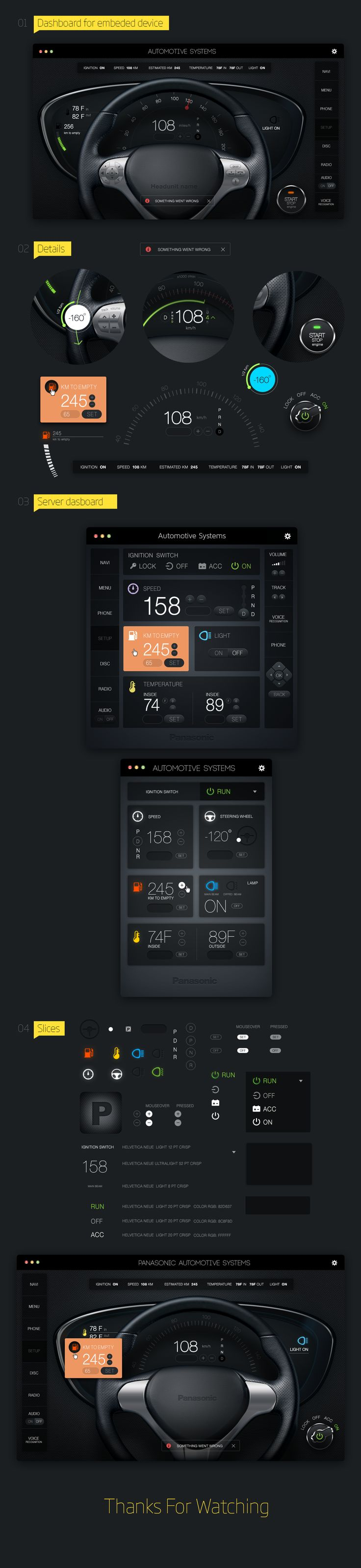 Panasonic Head Unit Controller, Interface © Николай Апостол #car #vehicle #ui