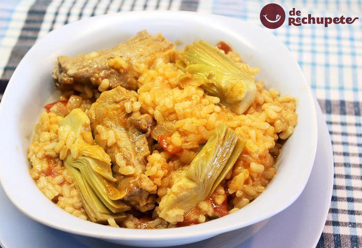 Un plato lleno de sabor. Arroz con alcachofas, perfecto para este fin de semana http://www.recetasderechupete.com/arroz-con-alcachofas/13253/ #receta