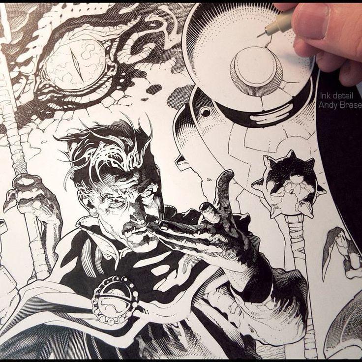 Doctor Strange: Ink version (tbt) Included in the new SPECTRUM 24 artbook that just came out Cover art for Marvel *Swipe for more details  #andybrase #inkdrawing #inking #penandink #fantasyart #fantasy #coverart #illustration #artoftheday #comicart #doctorstrange #drstrange #marvelart #conceptart #characterdesign #sorcerersupreme #traditionalart #scifiart #conceptartist  via ✨ @padgram ✨(http://dl.padgram.com)