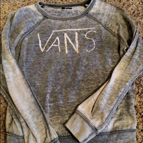 Vans women's pullover Vans grey light pullover sweater medium Vans Sweaters Crew & Scoop Necks