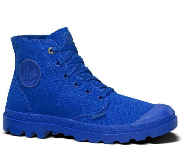 PALLADIUM. Monochrome Royal Blue Boots