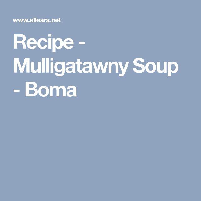 Recipe - Mulligatawny Soup - Boma