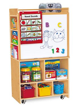 Lakeshoreu0027s Classic Birch Store It All Teaching Center Combines 2 Teaching  Easels And Tons