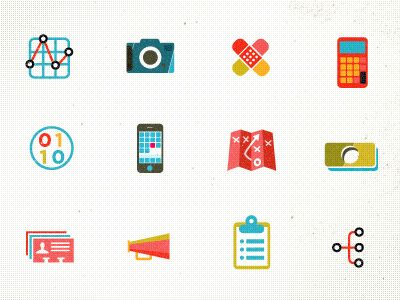 Icons (representing departments for job listings) by kellianderson