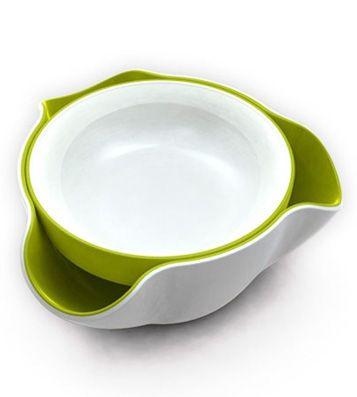 Миска для снека Double Dish - Белый - Салатовый