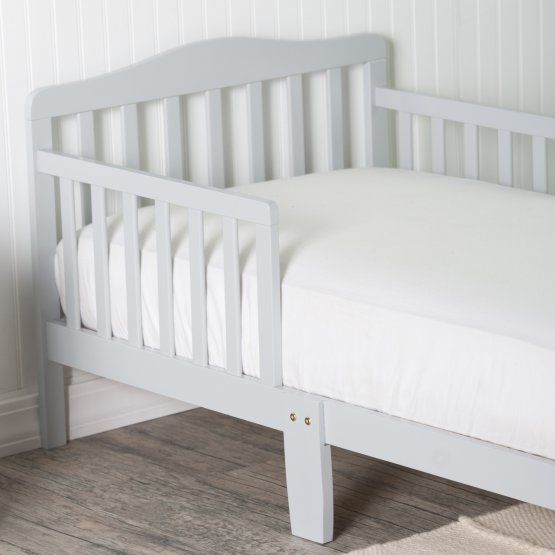 Orbelle Contemporary Solid Wood Toddler Bed - Gray