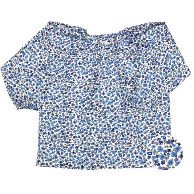 Blouse école maternelle - Bleu Fleuri - Tabliers d'école/Blouse école maternelle - Bobine