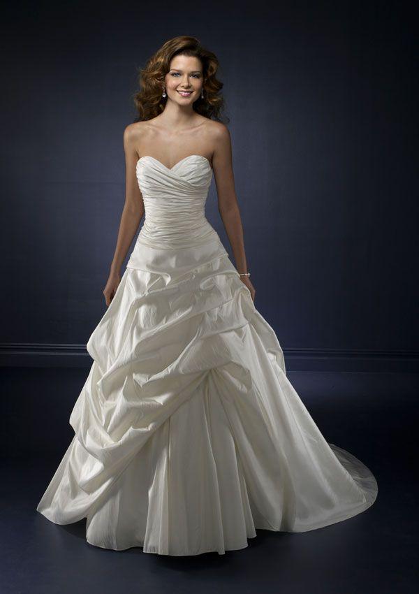 234 best Taffeta Wedding Gowns images on Pinterest   Wedding frocks ...