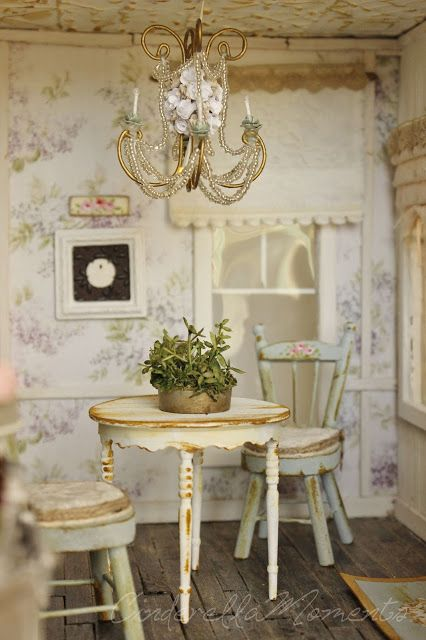 1283 best images about miniaturas shabby chic on pinterest miniature miniature rooms and lady. Black Bedroom Furniture Sets. Home Design Ideas