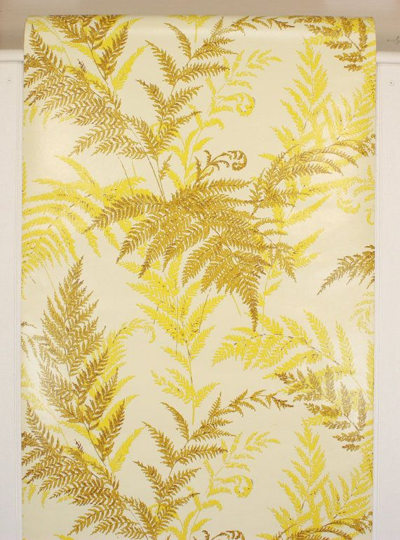 about Wallpaper ...1970s Wallpaper Green Leaves