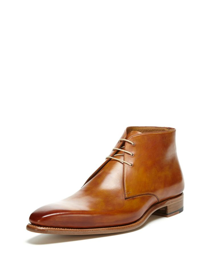 Leather Ankle Boots by Santos by Carlos Santos at Gilt