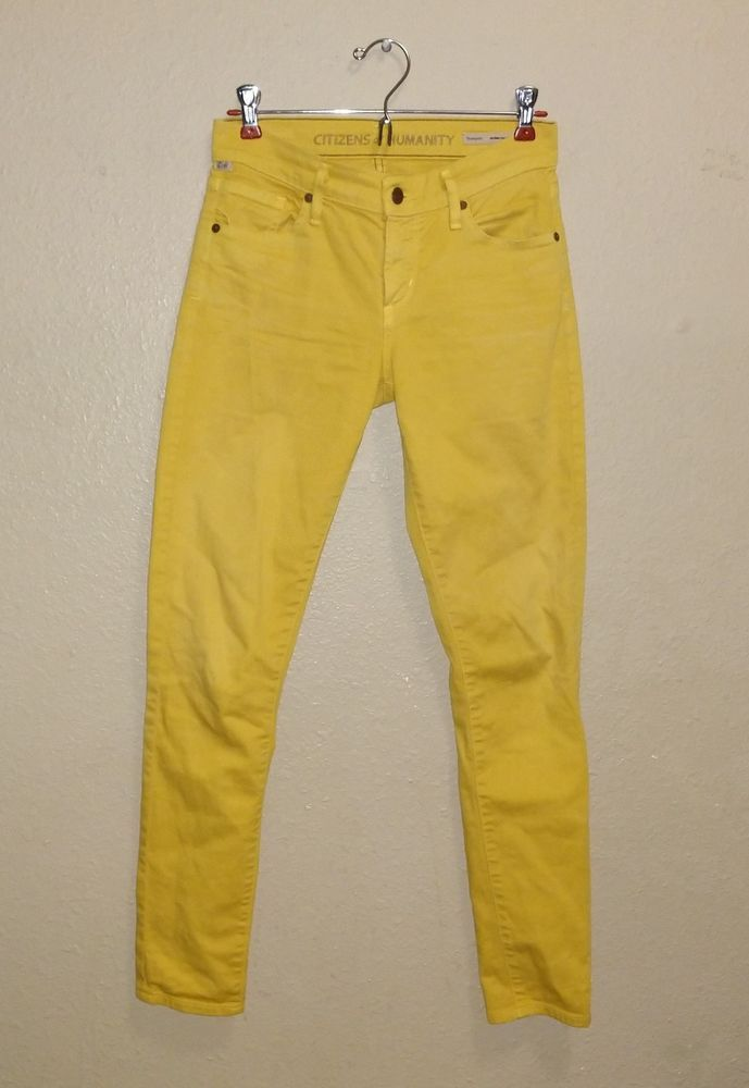 248973a4caa Citizens Of Humanity Womens Yellow Pants Jeans Medium rise 29