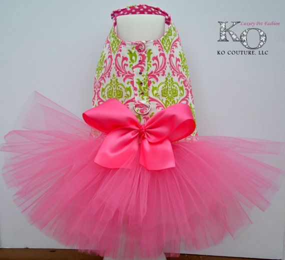 Etsy の Watermelon Tutu Harness Dog Dress by KOCouture