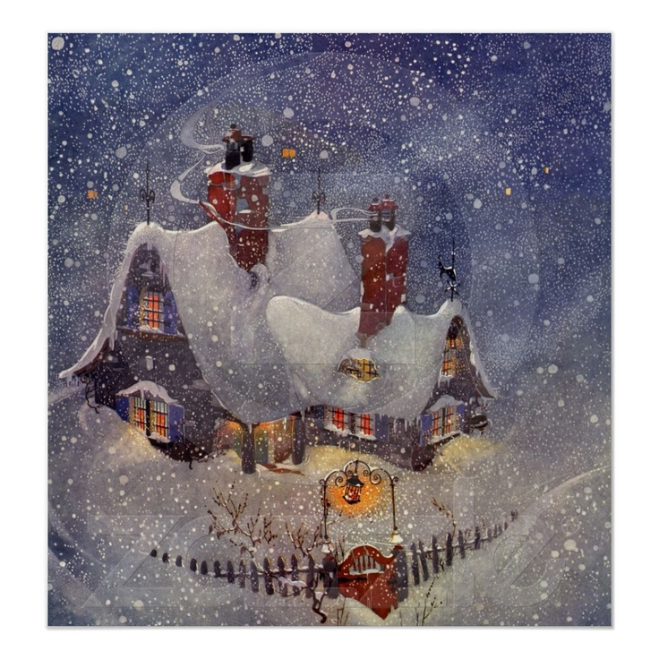 Santa's Workshop at the North Pole, Christmas Eve Poster from Zazzle.com