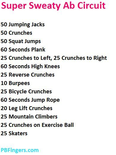 Ab workouts for you