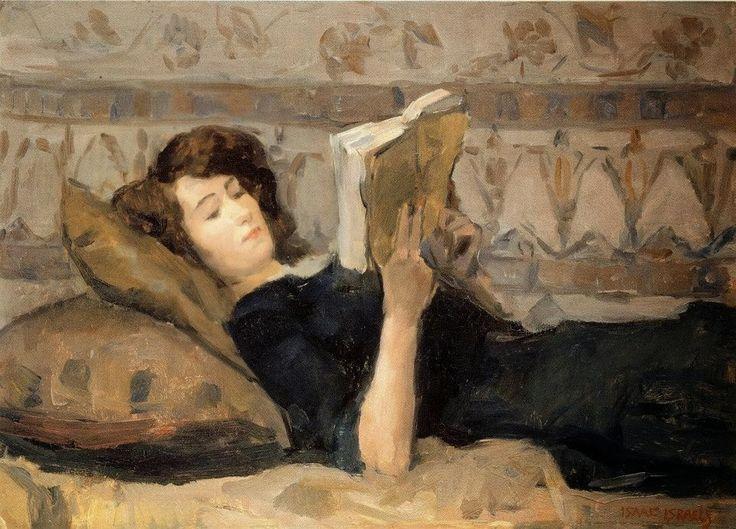Isaac Israels - Girl Reading on Sofa, 1920 Resultado de imagem para reading…
