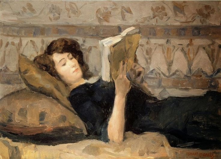 Isaac Israels - Girl Reading on Sofa, 1920 Resultado de imagem para reading illustration