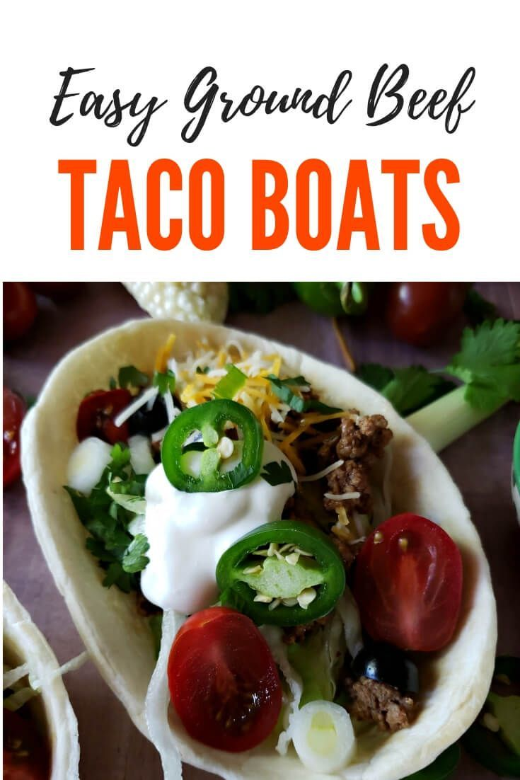 Easy Ground Beef Taco Boats Recipe Tacos Beef Ground Beef Tacos Taco Boats