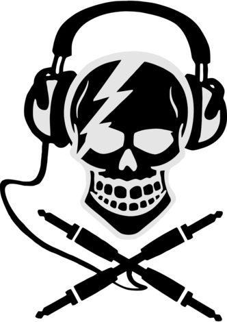 - Skull and 'Crossbones' Jacks. #music #headphones #skull #artwork #blackandwhite #cans #audio #musicart http://www.pinterest.com/TheHitman14/headphones-microphones-%2B/