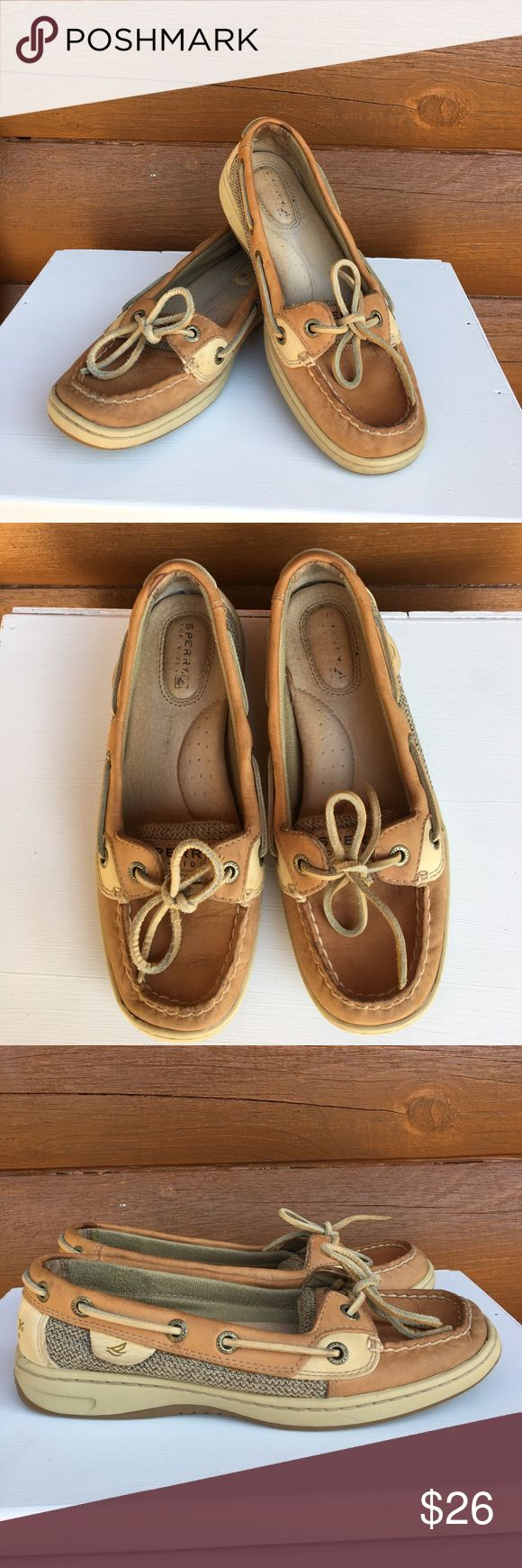 Sperry boat shoes Tan leather boat shoes in great used condition 👟 Sperry Top-Sider Shoes Sneakers