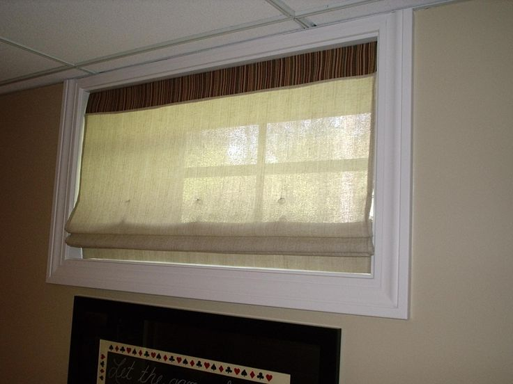 Lovely Window Treatments for Basement Windows