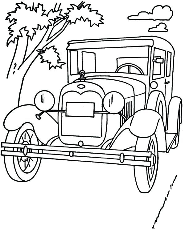 Ford Model T Coloring Page Cars Coloring Pages Coloring Pages