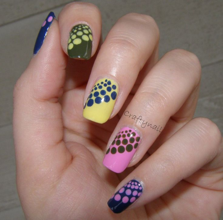 Don't love the way these look on every finger in all different colors, but I like the design idea.