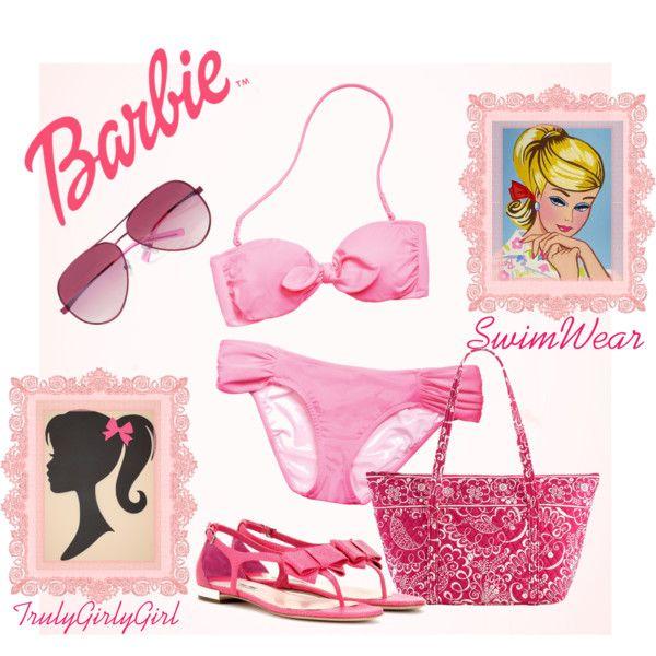 """""""Barbie: Swimwear"""" by trulygirlygirl on Polyvore"""